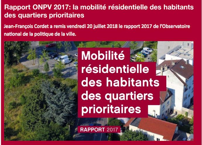 Rapport ONPV – mobilité résidentielle des habitants des quartiers prioritaires
