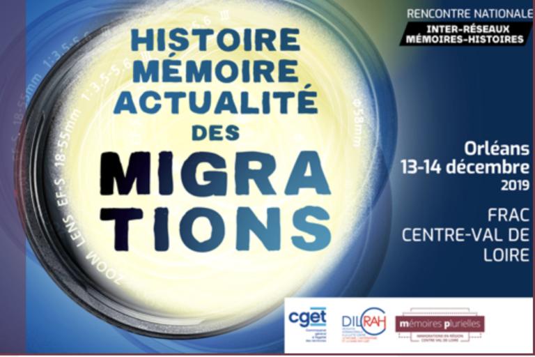 Penser ensemble histoire, mémoire et actualité des migrations : 13 et 14 décembre à Orléans