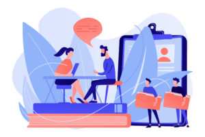 Job interview concept vector illustration.